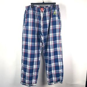 Psycho Bunny Men's Blue Plaid PJ Pants 1075